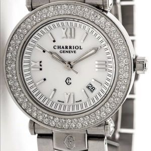 Rare Charriol Diamond Ladies Dress  Midsize Watch
